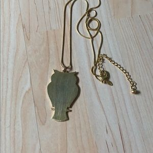 Chico's long owl outline necklace